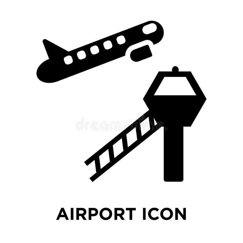 Vector del icono del aeropuerto aislado en el fondo blanco, concepto o del logotipo libre illustration