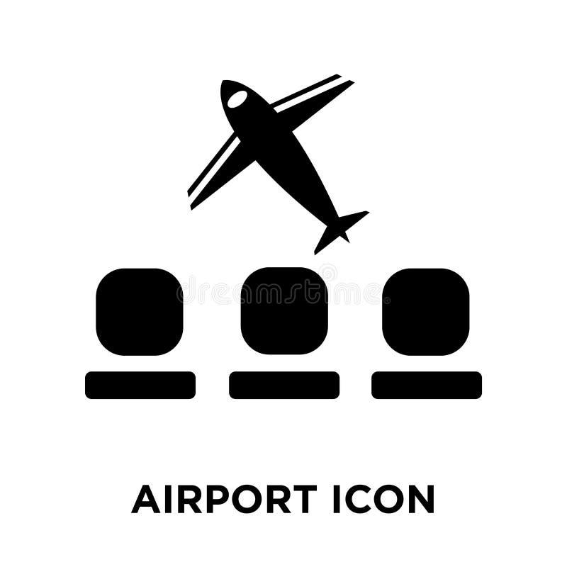 Vector del icono del aeropuerto aislado en el fondo blanco, concepto o del logotipo ilustración del vector