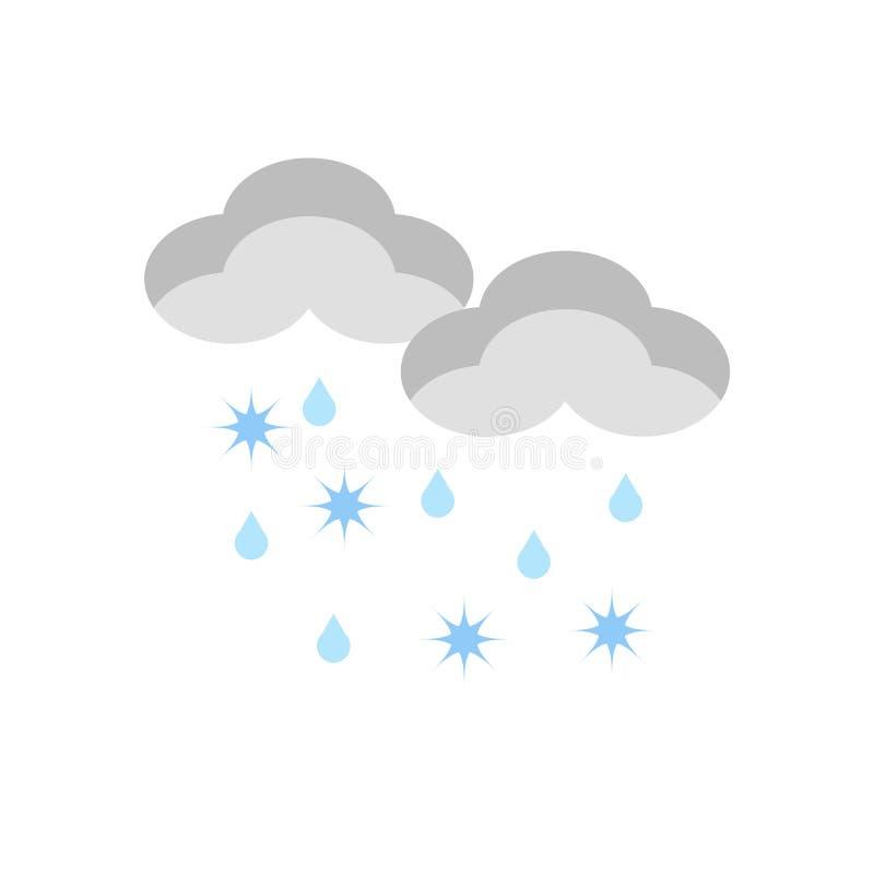 Vector del icono del aguanieve aislado en el fondo blanco, muestra del aguanieve, símbolos de tiempo libre illustration