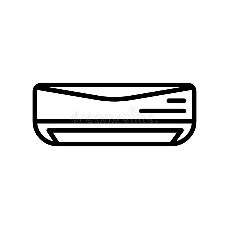 Vector del icono del aire acondicionado aislado en el fondo, la muestra del aire acondicionado, la línea y los elementos blancos  libre illustration