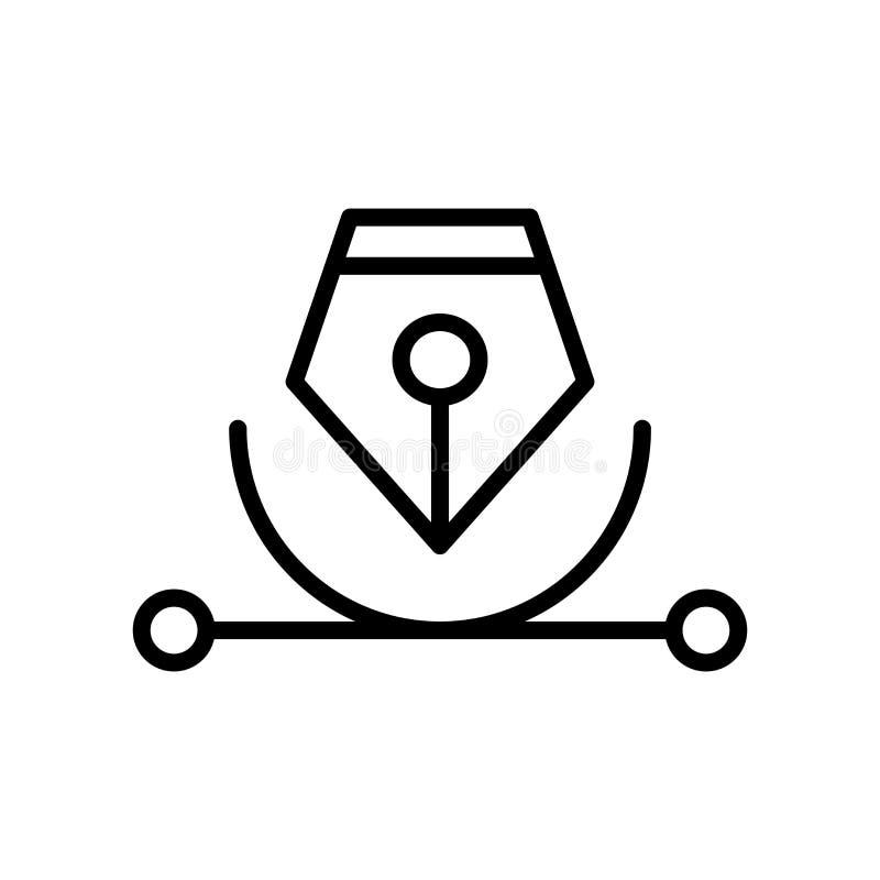 Vector del icono del vector aislado en el fondo, la muestra del vector, la línea y los elementos blancos del esquema en estilo li ilustración del vector
