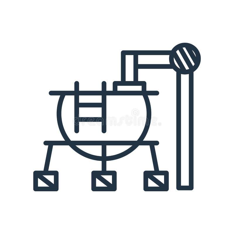Vector del icono del almacenamiento de gasolina aislado en el fondo blanco, storag del gas ilustración del vector
