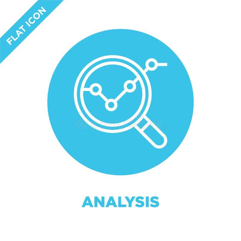 Vector del icono del análisis Línea fina ejemplo del vector del icono del esquema del análisis símbolo del análisis para el uso e libre illustration