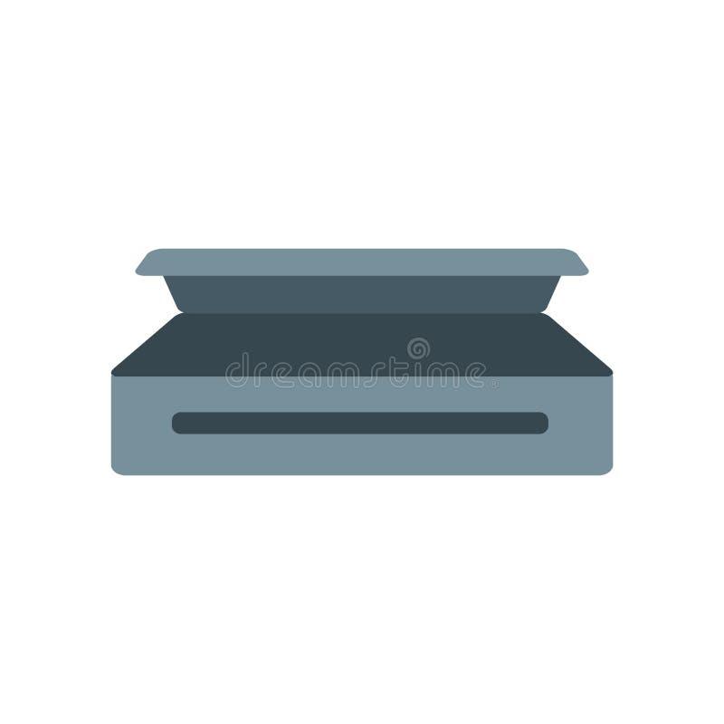 Vector del icono del ataúd aislado en el fondo blanco, muestra del ataúd, c ilustración del vector
