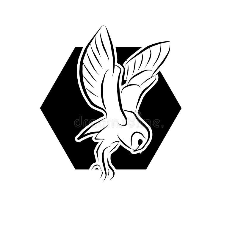 Vector del icono del búho en el estilo plano moderno para la web, el gráfico y el diseño móvil libre illustration