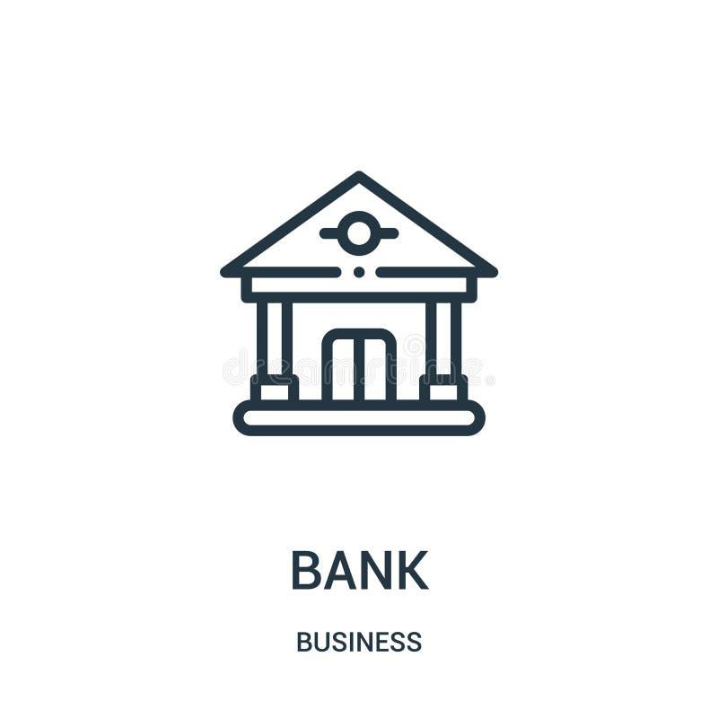 vector del icono del banco de la colección del negocio L?nea fina ejemplo del vector del icono del esquema del banco S?mbolo line ilustración del vector