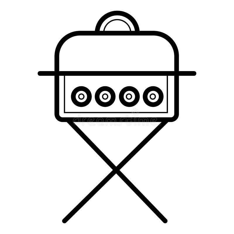 Vector del icono del Bbq libre illustration