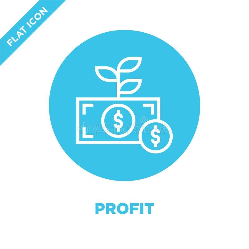vector del icono del beneficio Línea fina ejemplo del vector del icono del esquema del beneficio símbolo del beneficio para el us ilustración del vector