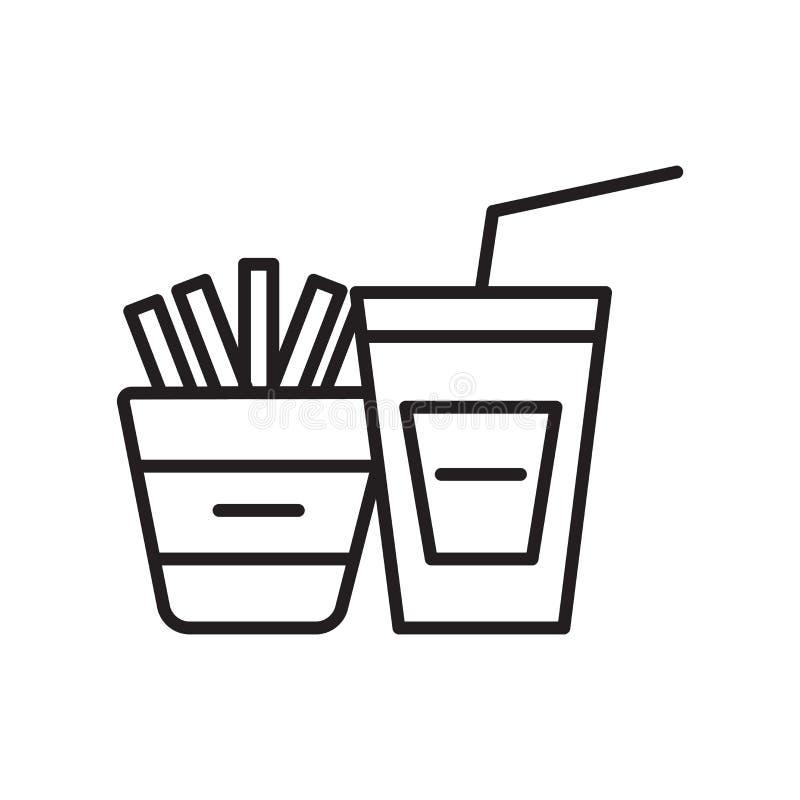 Vector del icono del bocado aislado en el fondo blanco, muestra del bocado, línea fina elementos del diseño en estilo del esquema stock de ilustración