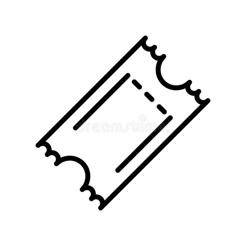Vector del icono del boleto aislado en el fondo, la muestra del boleto, la línea y los elementos blancos del esquema en estilo li stock de ilustración