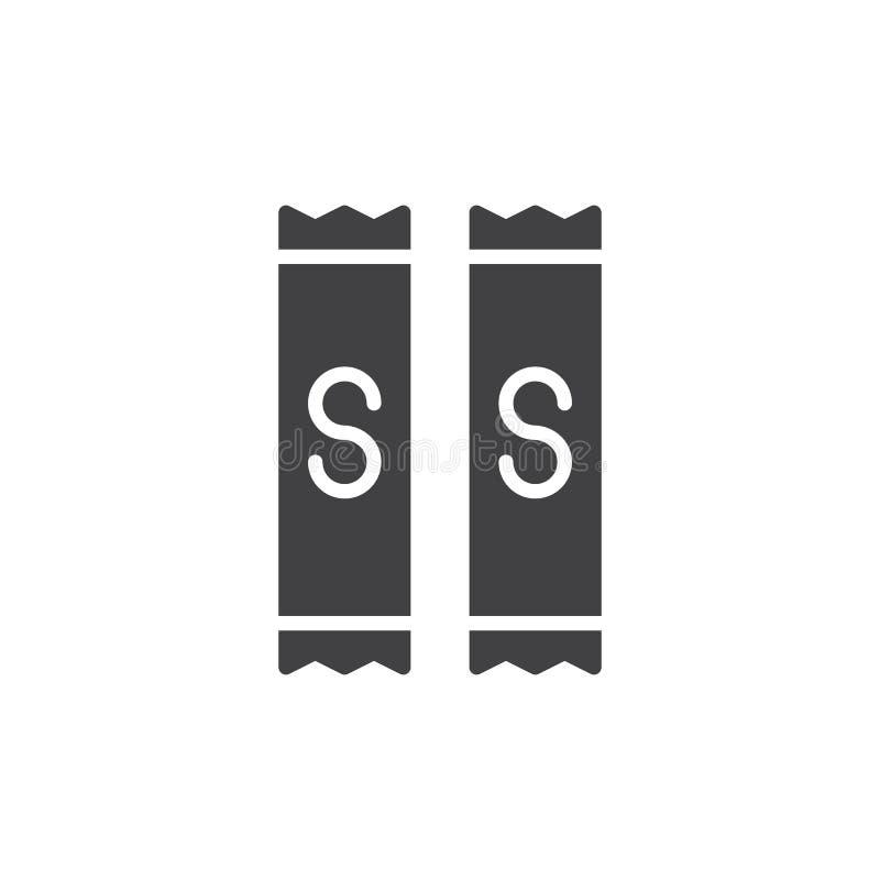 Vector del icono del bolso del azúcar ilustración del vector