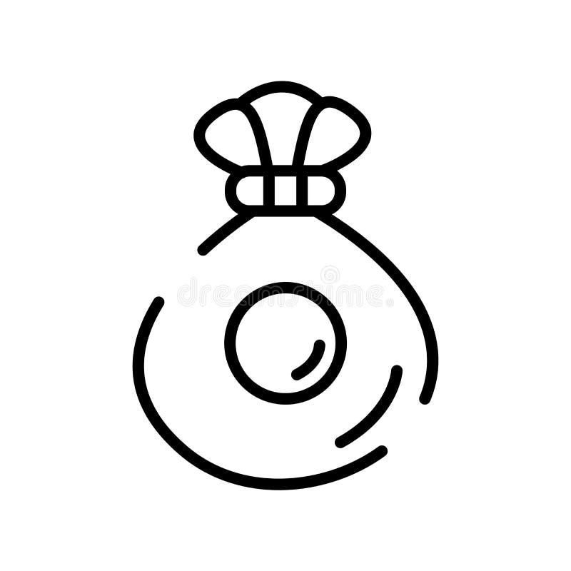 Vector del icono del bolso del dinero aislado en la muestra blanca del fondo, del bolso del dinero, la línea símbolo o el diseño  libre illustration