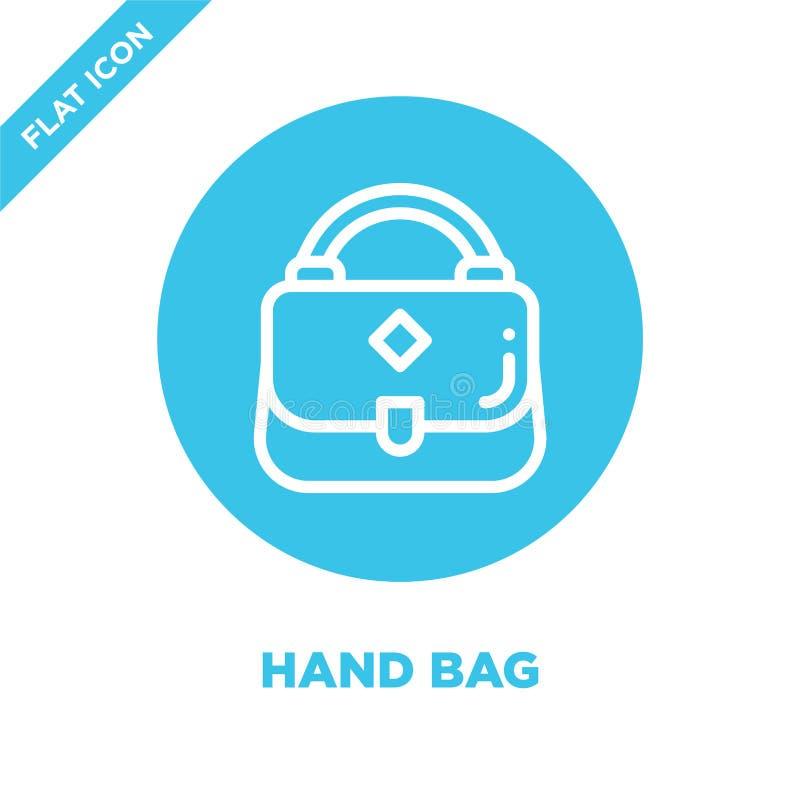 vector del icono del bolso Línea fina ejemplo del vector del icono del esquema del bolso símbolo del bolso para el uso en la web  libre illustration