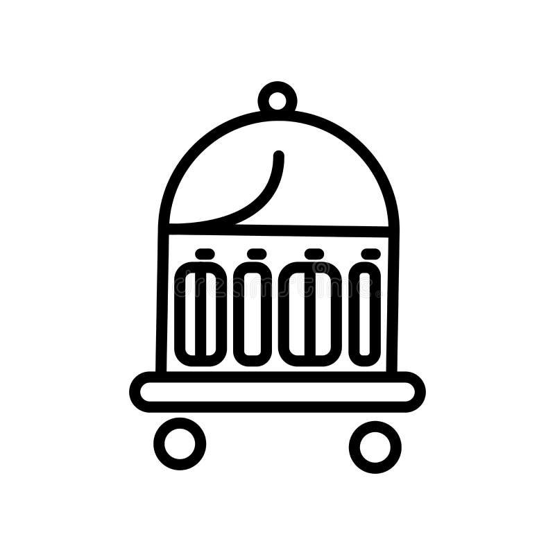 Vector del icono del botones aislado en el fondo, la muestra del botones, la línea y los elementos blancos del esquema en estilo  ilustración del vector