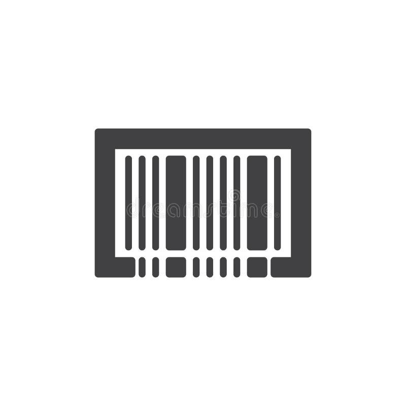 Vector del icono del código de barras ilustración del vector