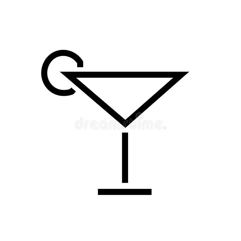 Vector del icono del c?ctel ilustración del vector