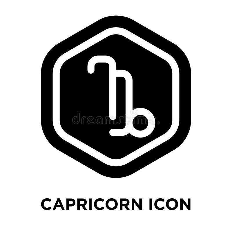 Vector del icono del Capricornio aislado en el fondo blanco, concepto del logotipo ilustración del vector