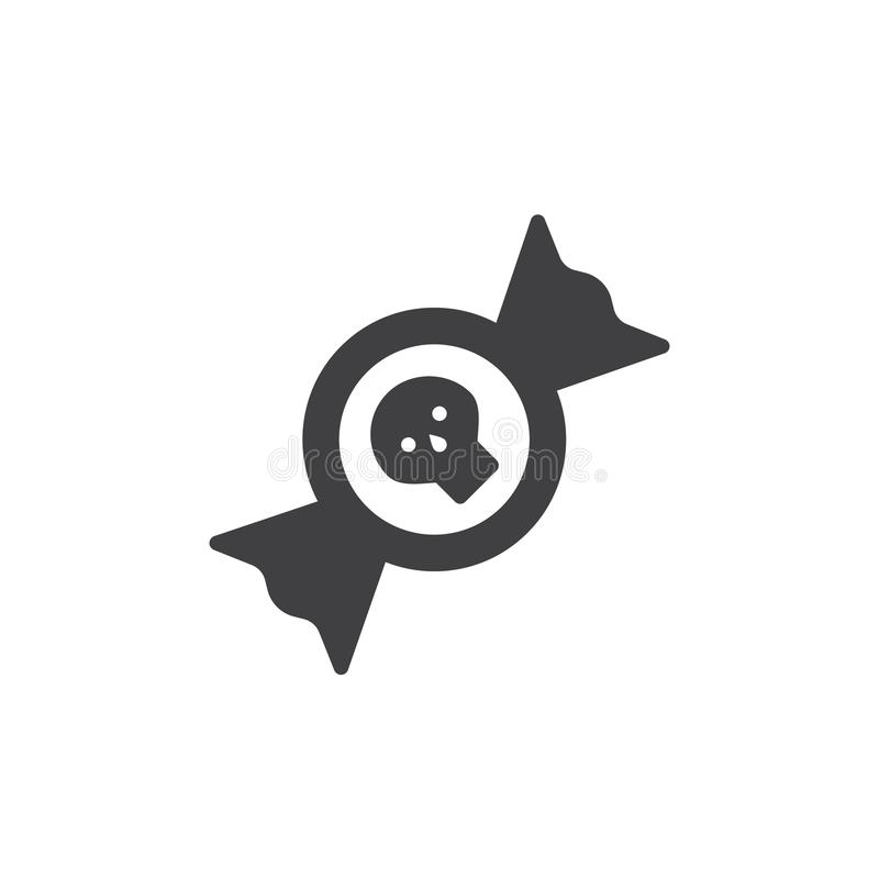 Vector del icono del caramelo stock de ilustración