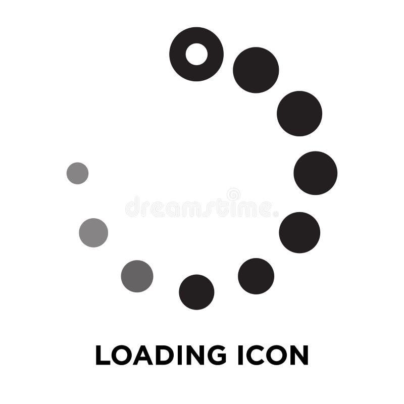 Vector del icono del cargamento aislado en el fondo blanco, concepto o del logotipo stock de ilustración
