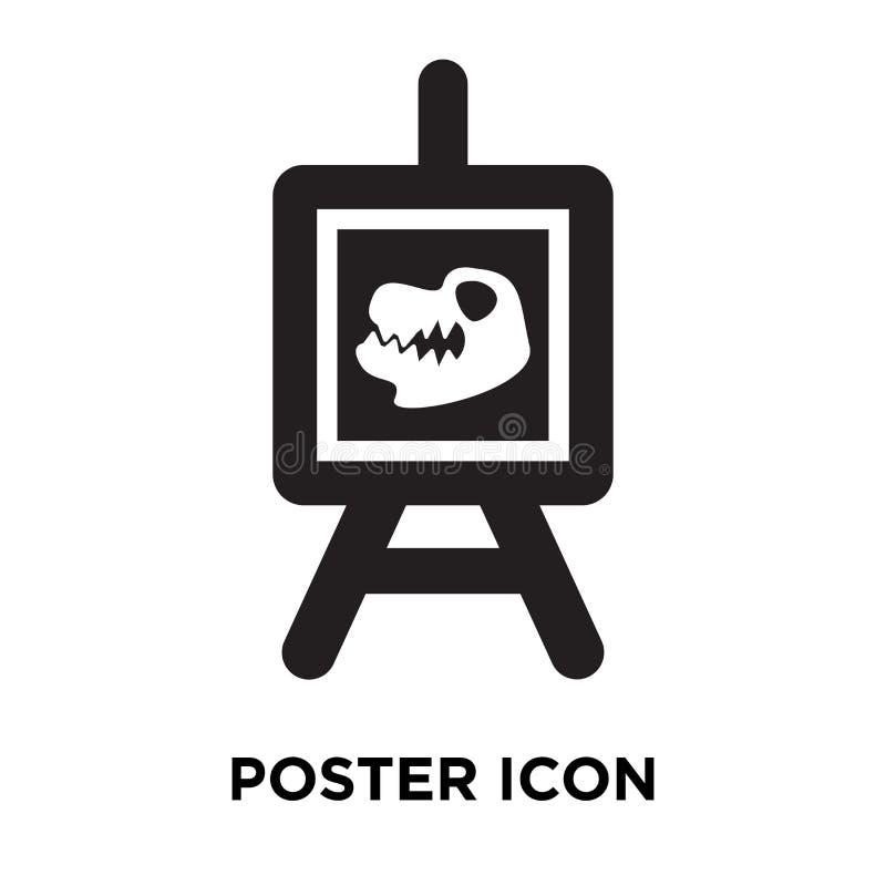 Vector del icono del cartel aislado en el fondo blanco, concepto del logotipo de stock de ilustración