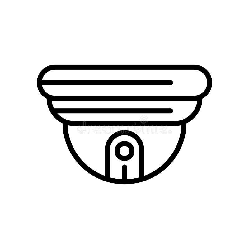 Vector del icono del Cctv aislado en el fondo blanco, la muestra del Cctv, la línea y elementos del esquema en estilo linear libre illustration