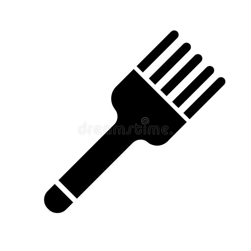 Vector del icono del cepillo de pasteles stock de ilustración