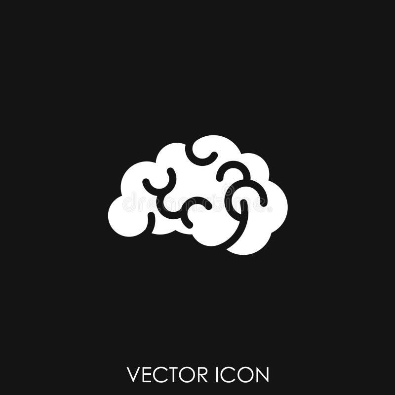 Vector del icono del cerebro ilustración del vector