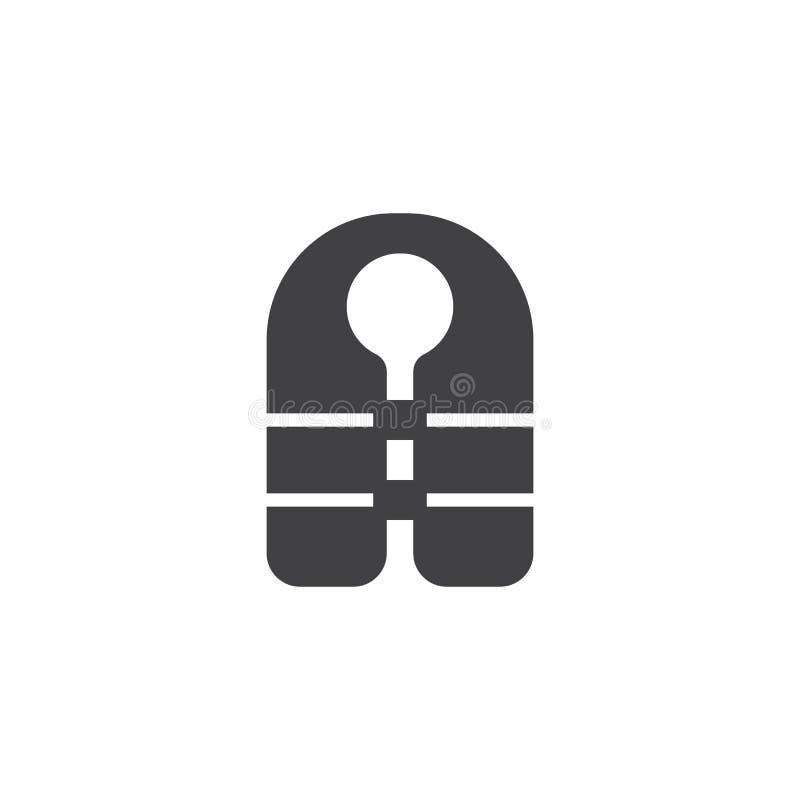 Vector del icono del chaleco salvavidas stock de ilustración