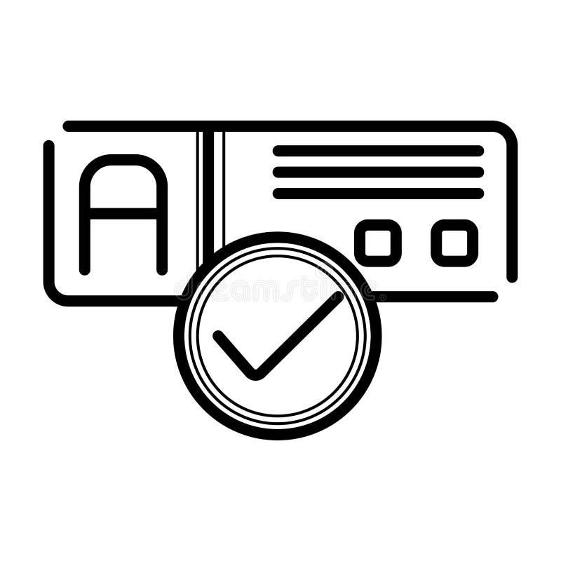 Vector del icono del Checkbox stock de ilustración