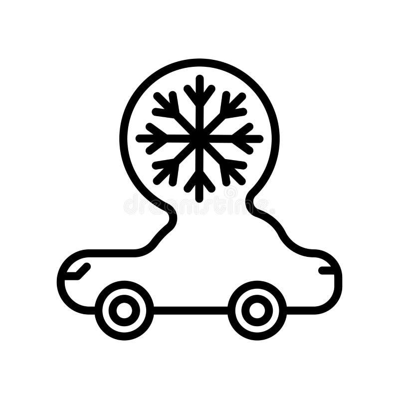 Vector del icono del coche aislado en el fondo, la muestra del coche, la línea y los elementos blancos del esquema en estilo line libre illustration