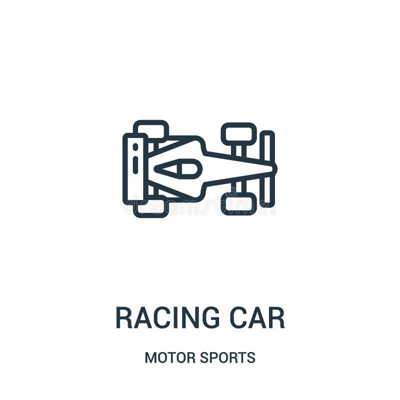 vector del icono del coche de competici?n de la colecci?n de los deportes de motor L?nea fina ejemplo del vector del icono del es libre illustration