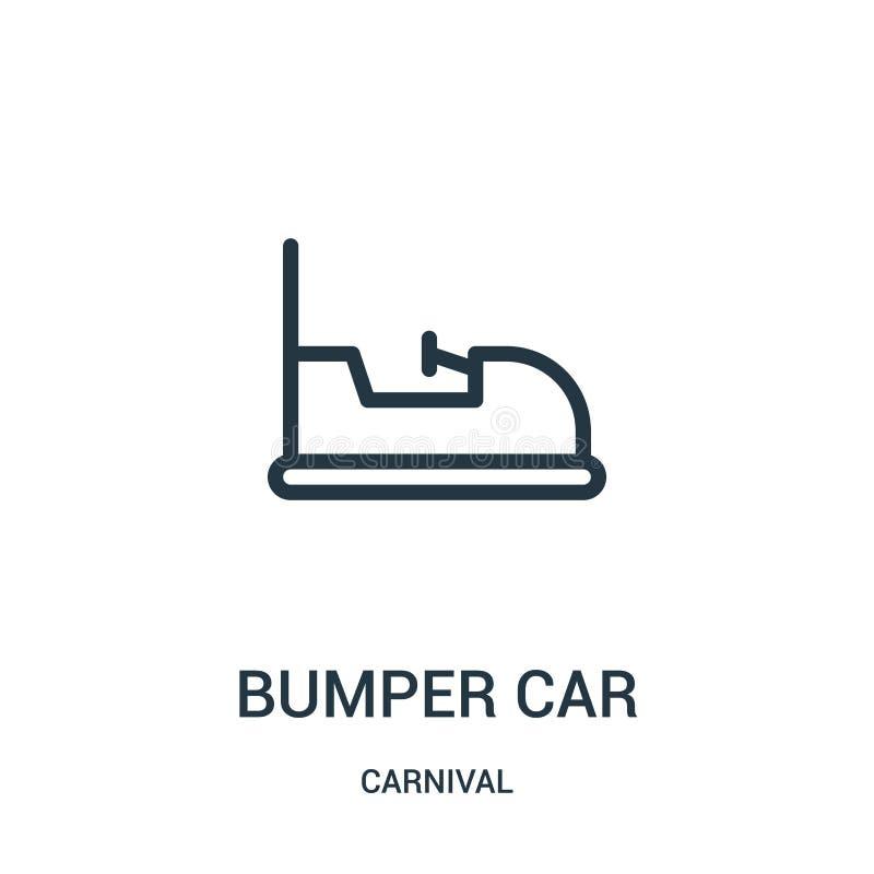 vector del icono del coche de parachoques de la colección del carnaval L?nea fina ejemplo del vector del icono del esquema del co ilustración del vector