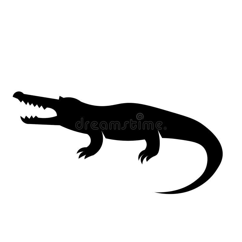 Vector del icono del cocodrilo ilustración del vector