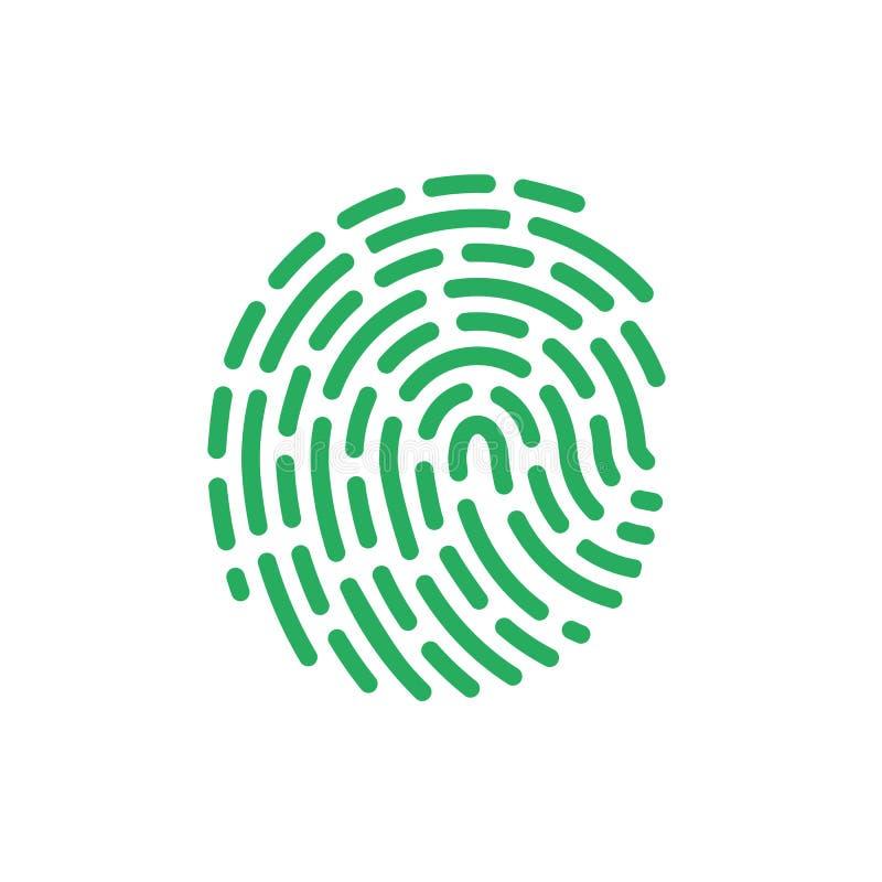 Vector del icono del color de la huella dactilar Línea símbolo del aproove de la identificación Desi plano de moda de la muestra  libre illustration