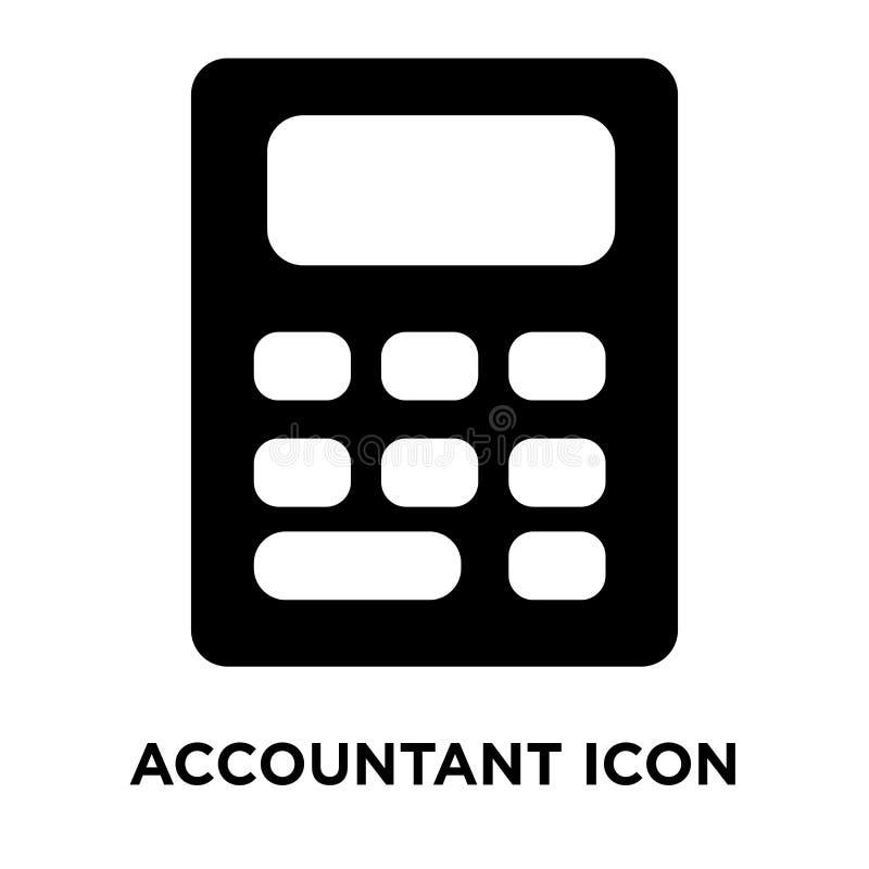 Vector del icono del contable aislado en el fondo blanco, concep del logotipo stock de ilustración