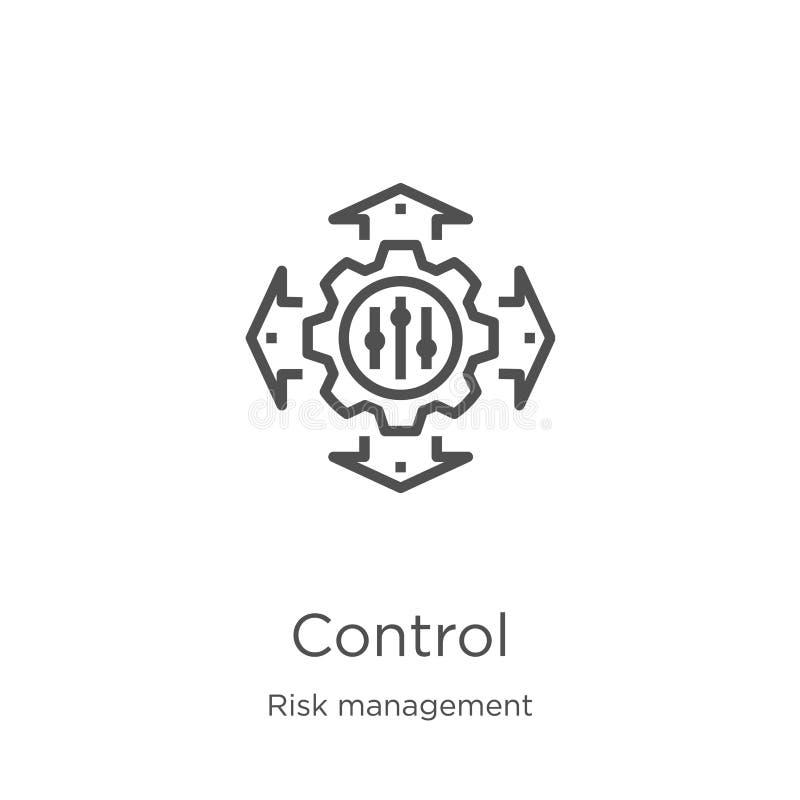 vector del icono del control de la colección de la gestión de riesgos Ejemplo de control de l?nea fino del vector del icono del e libre illustration