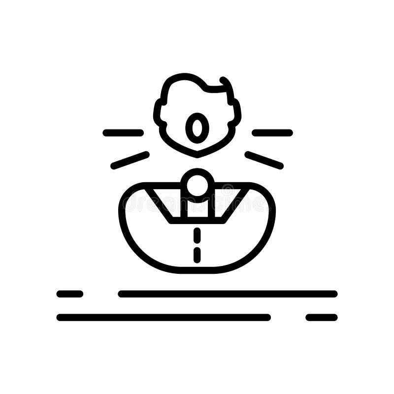 Vector del icono del control de la voz aislado en la muestra blanca del fondo, del control de la voz, la línea símbolo o el diseñ ilustración del vector