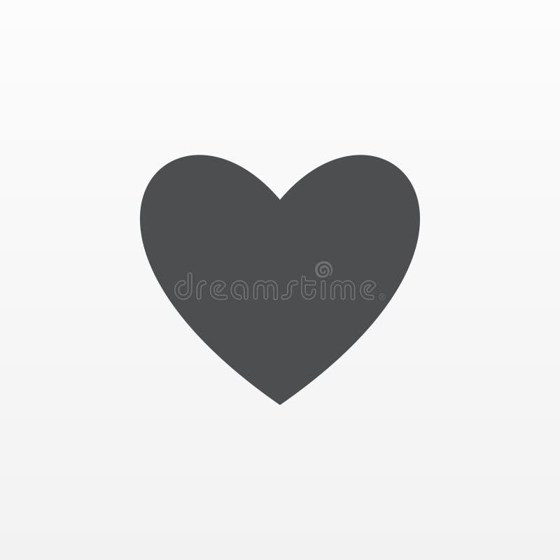 Vector del icono del corazón Símbolo plano del amor aislado en el fondo blanco Concepto de moda de Internet Si moderno libre illustration