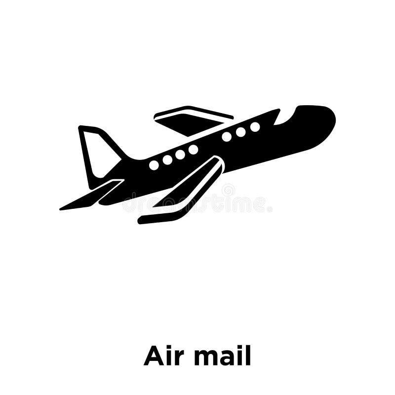 Vector del icono del correo aéreo aislado en el fondo blanco, concepto del logotipo ilustración del vector