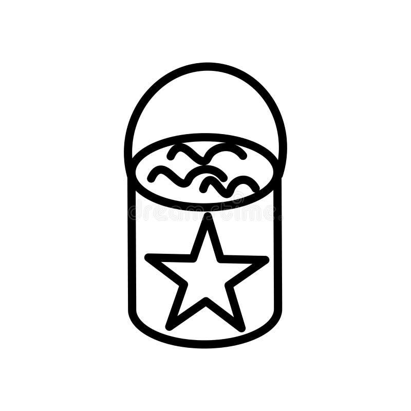 Vector del icono del cubo de la pintura aislado en la muestra blanca del fondo, del cubo de la pintura, la línea y elementos del  ilustración del vector