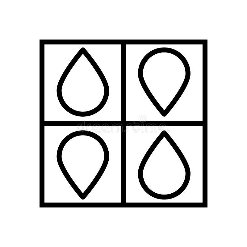 Vector del icono de Cmyk aislado en el fondo, la muestra de Cmyk, la línea y los elementos blancos del esquema en estilo linear stock de ilustración