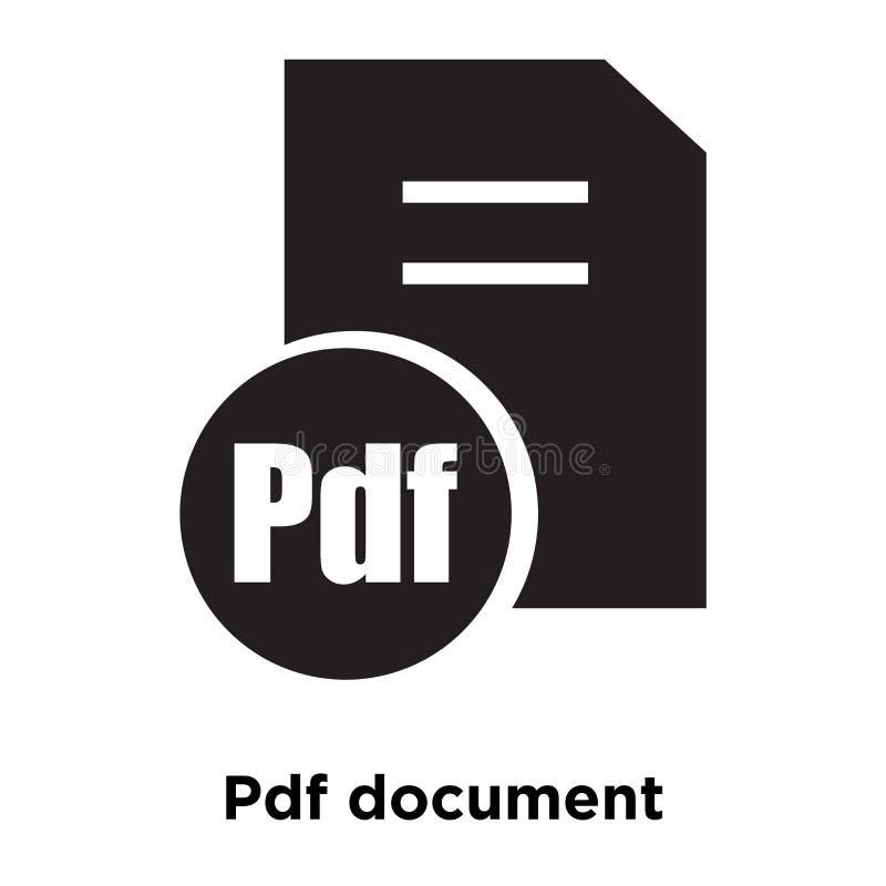 Vector del icono de documento del pdf aislado en el fondo blanco, logotipo concentrado libre illustration