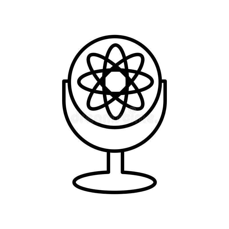 Vector del icono de Einstein aislado en el fondo, la muestra de Einstein, la muestra y los símbolos blancos en estilo linear fino ilustración del vector