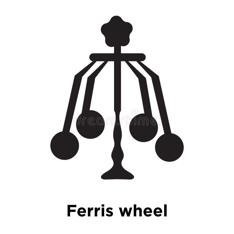 Vector del icono de Ferris Wheel aislado en el fondo blanco, logotipo concentrado ilustración del vector