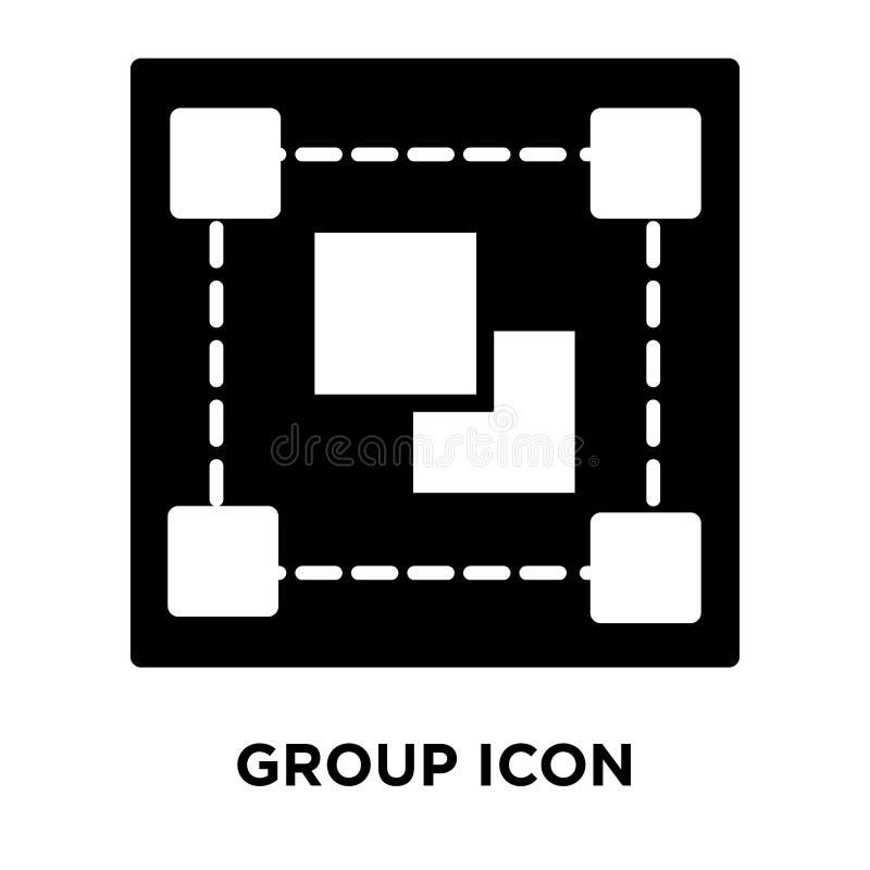 Vector del icono de grupo aislado en el fondo blanco, concepto del logotipo de ilustración del vector