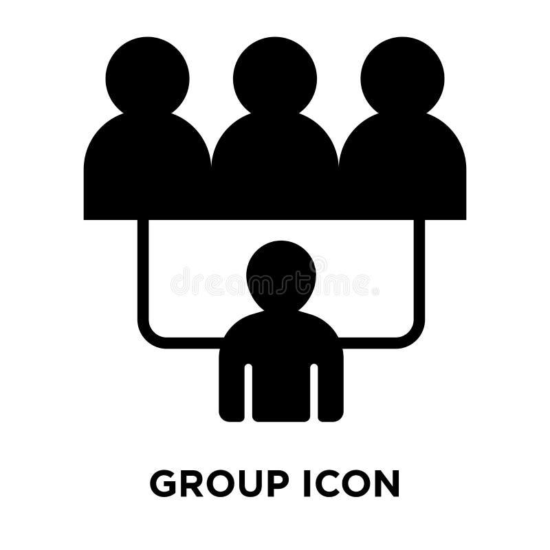 Vector del icono de grupo aislado en el fondo blanco, concepto del logotipo de libre illustration