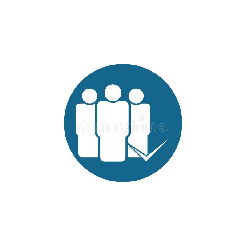Vector del icono de grupo ejemplo del gráfico de vector del grupo stock de ilustración