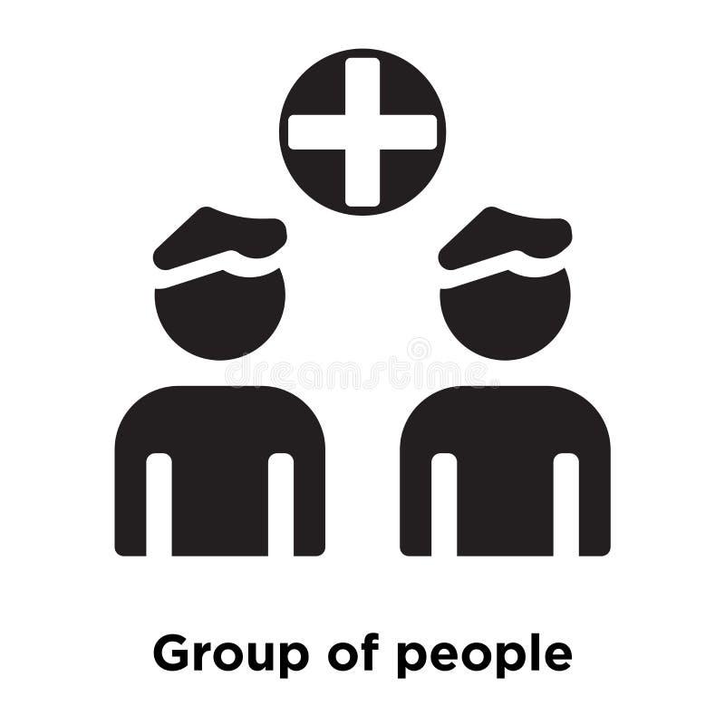 Vector del icono de grupo de personas aislado en el fondo blanco, logotipo c ilustración del vector