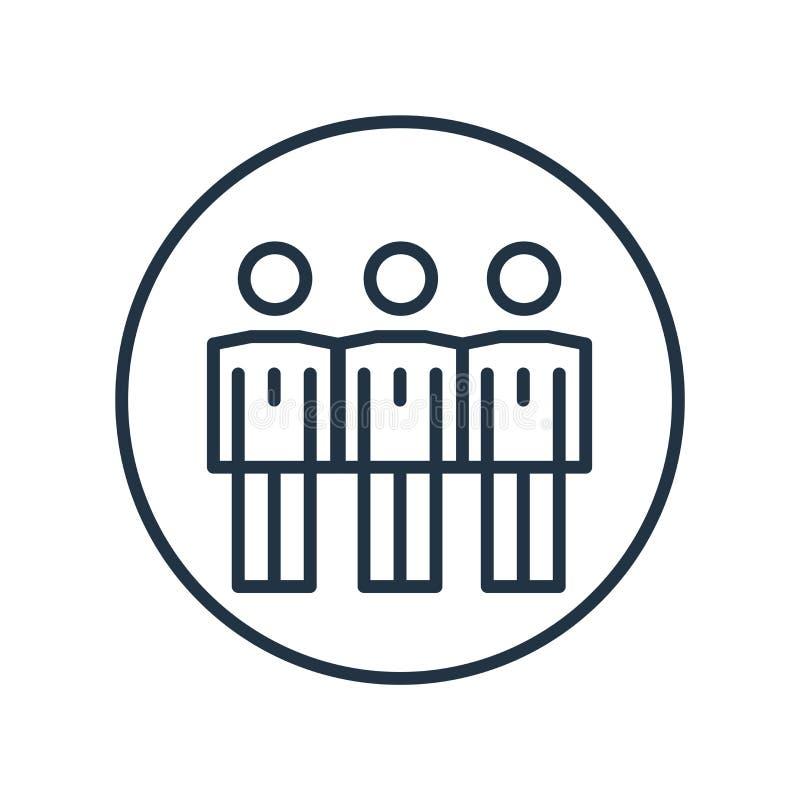 Vector del icono de Humanpictos aislado en el fondo blanco, muestra de Humanpictos stock de ilustración