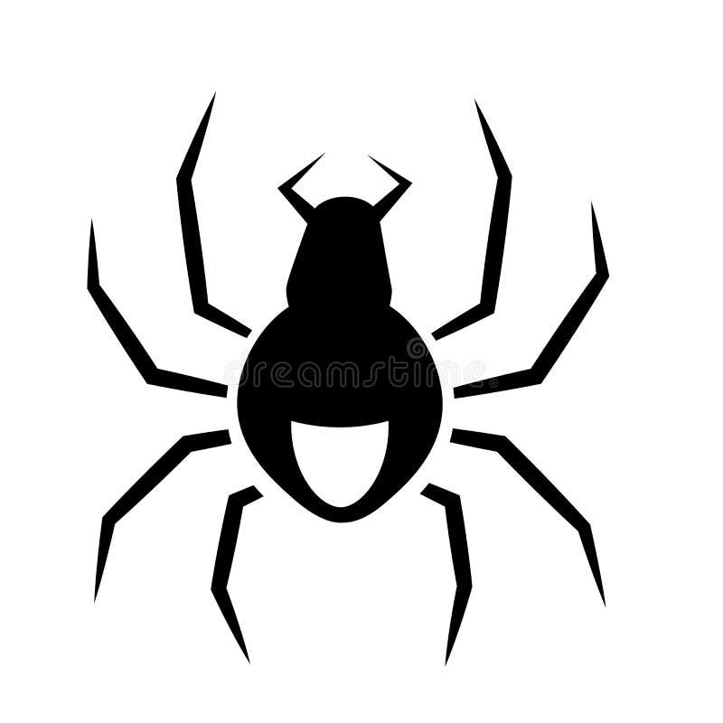 Vector del icono de la ara?a ilustración del vector
